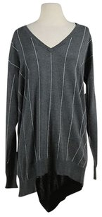 Vince Camuto Womens Striped Med Cotton Sweater