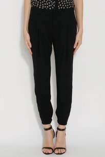 Vince Cropped Harem Zip Skinny Front Ankle Dress Trouser 10l Pants