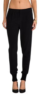 Vince Crepe Satin Track Stripe Jogger Elastic Trouser Dress Pants