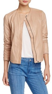 Vince Leather New With Tags Beige Leather Jacket