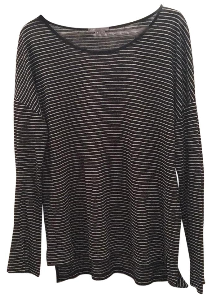 Vince linen high low top! Black and white stripe!