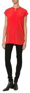 Vince Loose Silk Top Red