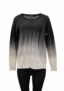 Vince Black Cream Ombre Wool Sweater