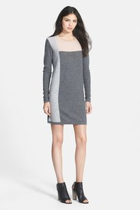 Vince short dress Gray Cashmere Pink on Tradesy