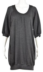 Vince short dress Gray Womens Sweater Speckled Wool Above Knee on Tradesy