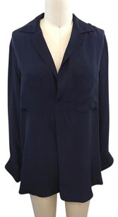 Vince Silk Two Pocket Top Navy