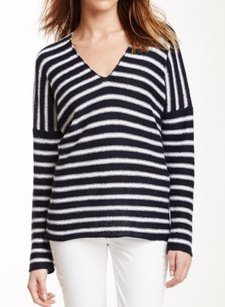 Vince Striped Linen Sold Sweater