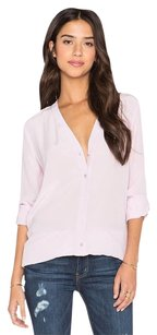 Vince Vee Silk Blouse Shirt Button Down Shirt Magenta