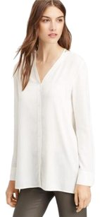 Vince Vee Silk Blouse Shirt Button Down Shirt White
