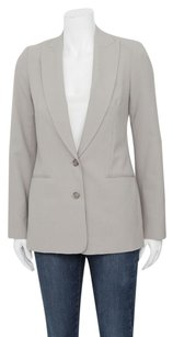Vince Vince Putty Grey Stretch Wool High Peaked Lapel Shawl Collar Blazer Jacket 2s