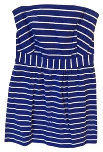 Vineyard Vines short dress STRIPED BLUE WHITE COVERUP STRAPLESS on Tradesy