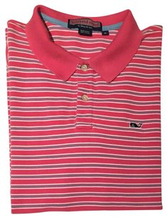 Vineyard Vines Mens Mens Mens Polo Shirt Striped Polo Shirt Polo Button Down Shirt Pink