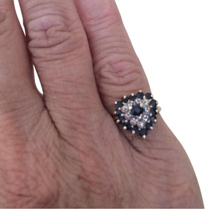 vintage 10k plumb gold sapphires Diamonds vintage 10k plumb gold sapphires diamonds heart ring