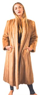 Vintage 1960's Fur Mink Coat Mad Men Fur Coat