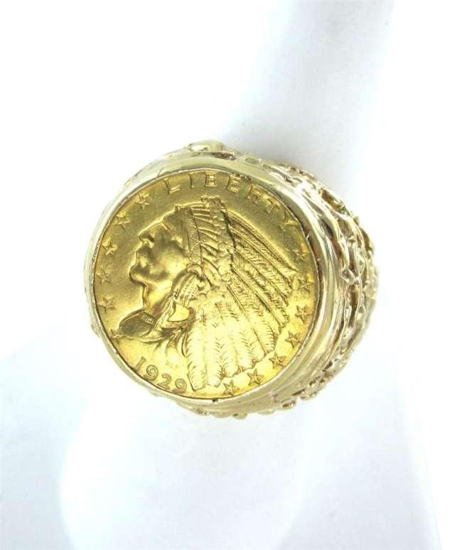 Gold Liberty Indian Head Coin 1929 14kt Yellow 16 1dwt Heavy 9 Men