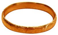 VINTAGE ESTATE 14K YELLOW GOLD HINGED BANGLE BRACELET