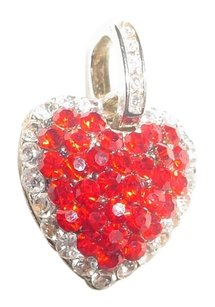 Vintage red pave' heart pendant