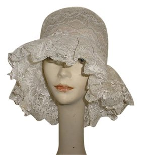 Vintage white lace hat
