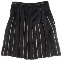 Viviana Uchitel Black Pleated Skirt