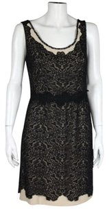 Vivienne Tam Womens Lace Formal Knee Length Sheath Sleeveless Dress