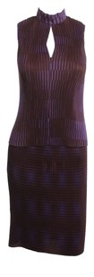 Vivienne Tam VIVIENNE TAM 2 PIECE PURPLE SKIRT SUIT SIZE 0