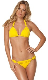 ViX Yellow Bia Tube Bikini Top and Bottom
