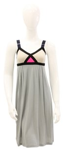 VPL short dress Grey, Pink Empire Waist Colorblock Summer on Tradesy