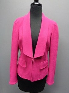 W by Worth W By Worth Long Sleeved Hook And Eye Textured Line Blazer Sma1569