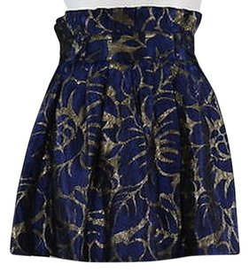 W118 by Walter Baker Womens Floral Above Knee Party Casual Mini Skirt Navy