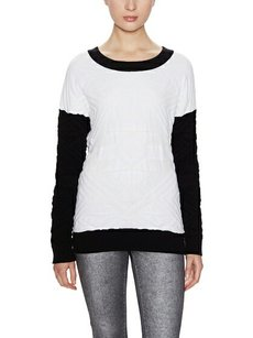W118 by Walter Baker Textured Color-blocking Sweater