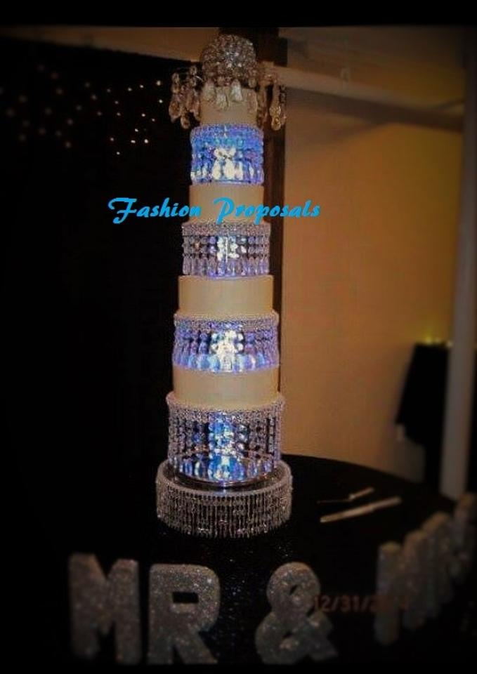 Wedding Crystal Acrylic Cake Stand Tower 4 Tiers With A