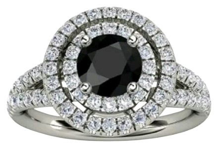 Preload https://item4.tradesy.com/images/white-goldsilver-tone-new-black-gemstone-double-halo-ring-22003418-0-1.jpg?width=440&height=440