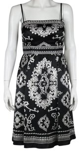 White House | Black Market Womens Sheath Paisley Above Knee Party Dress