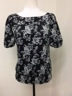 White House | Black Market With Floral Print Top White