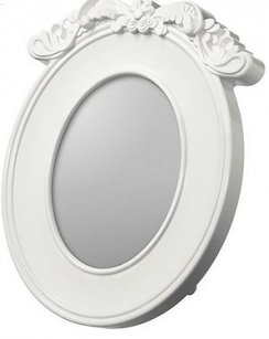 White Vintage Style Frame Baroque Oval Table Numbe