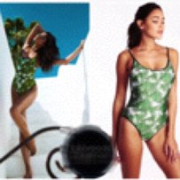 Wildfox WILDFOX 90's tropical palms swimsuit Sz S new