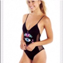 Wildfox Wildfox Couture Third Eye Crochet Swimsuit Sz S new