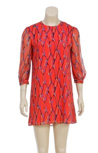Winter Kate short dress Red Multicolor on Tradesy