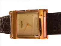 TNA Women's Wittnauer Watch Silver/Gold with Leather Band