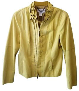 Worth Chartreuse Leather Jacket