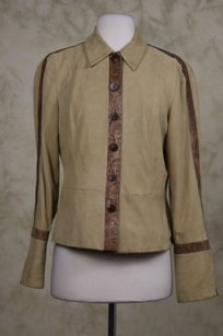 Worth Womens Leather Sand Jacket