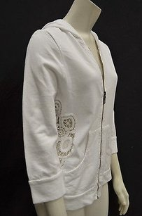 XCVI Full Zip Crochet White Jacket