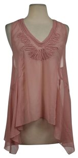 Ya Los Angeles Womens Sleeveless Asymmetrical Shirt Top Pink