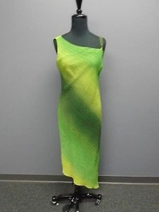 Green Maxi Dress by Yansi Fugel Ombre Polyester Lined One Maxi 2173a