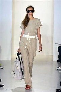 Yigal Azrouël Khaki Pant Drawstring Waist Dress