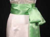 Apple Green Ribbon Sash 4