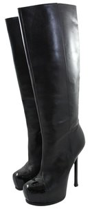 Yves Saint Laurent Leather Black Boots