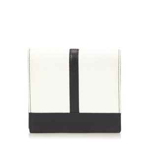 Saint Laurent Black Coin Pouch Ivory Leather 6ayszz001