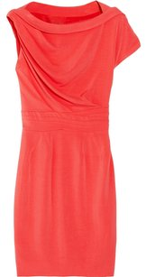 Zac Posen Cap Sleeve Boatneck Pleated Sleeveless Dress