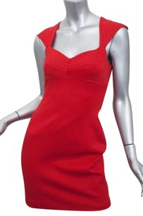 Zac Posen Womens Sleeveless Back Bodycon Sheath 2xs Dress